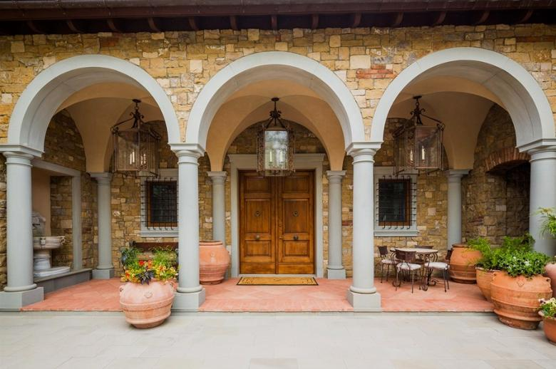 414 Italian Style Villa Entry - Mountain Residence in Colorado