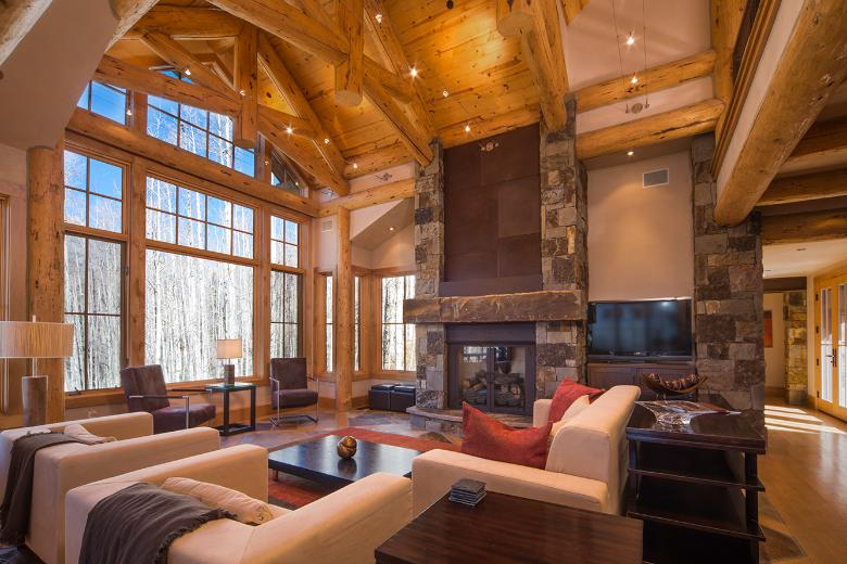 Great Room and Fireplace - Ski Home in Telluride Mountain Village, CO