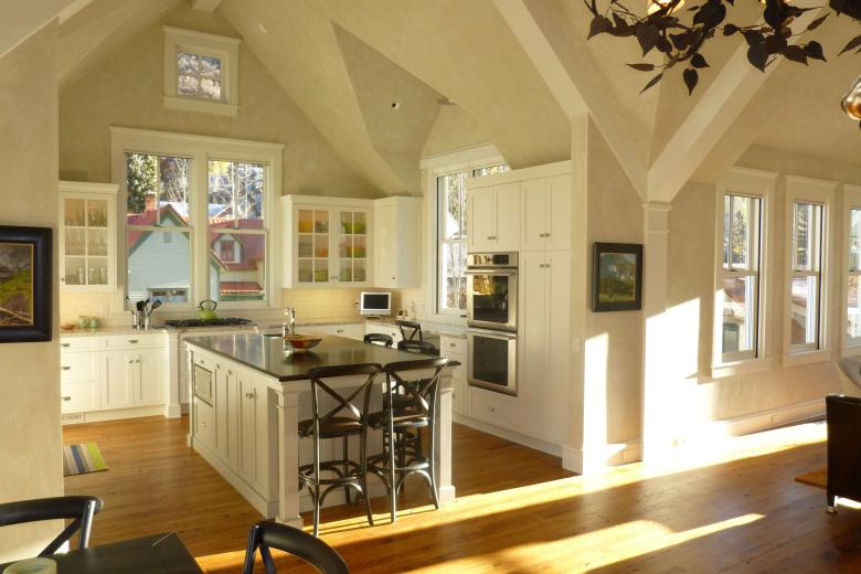 Light-Filled Kitchen with Gables - Contemporary Victorian in Telluride, CO