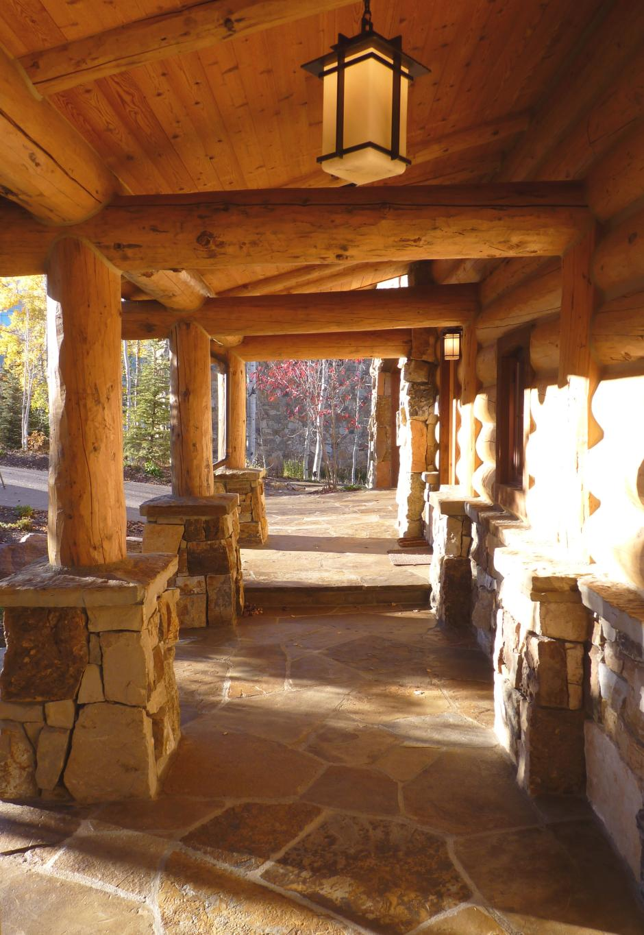 117 Exterior Porch Log Columns - Ski Home in Telluride Mountain Village, CO