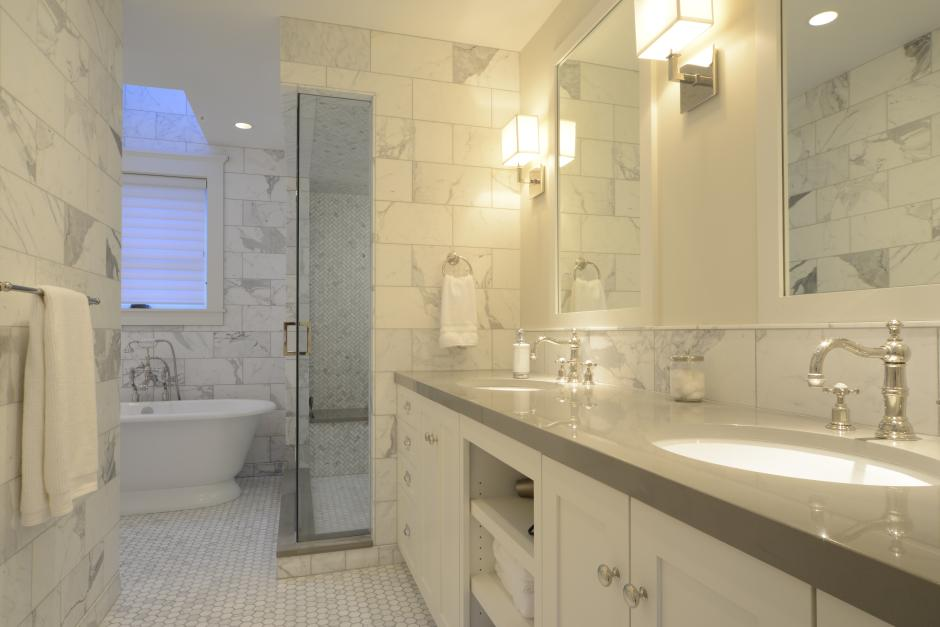 Stone Tiled Bathroom - Contemporary Victorian in Telluride, CO