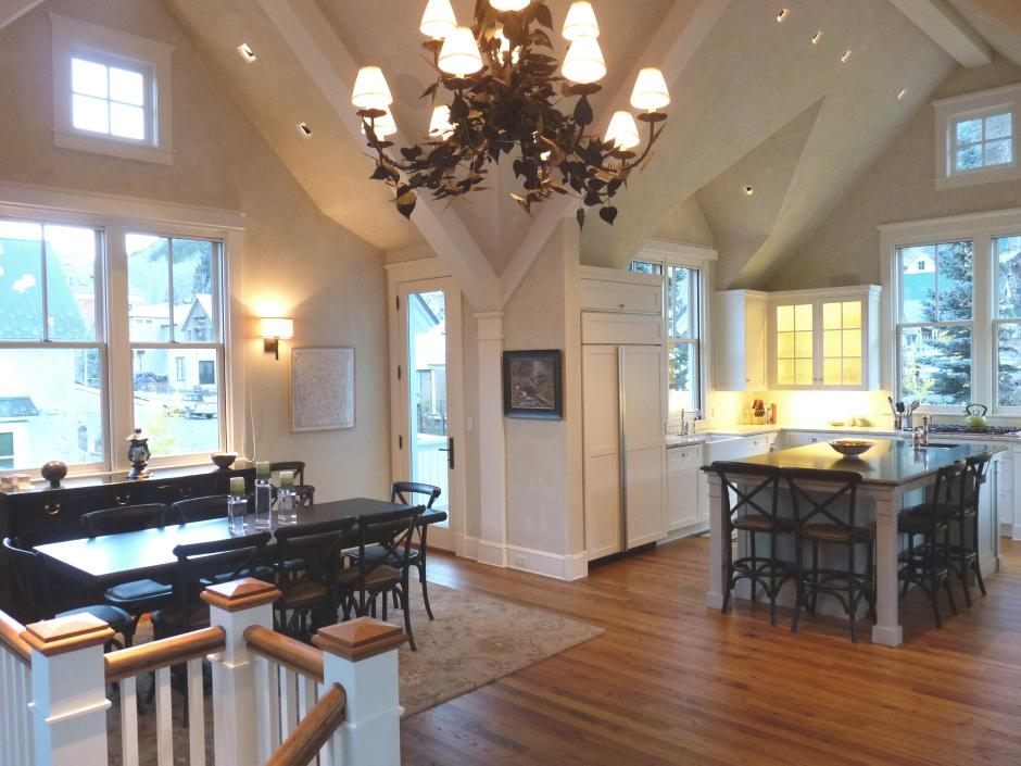 Light-Filled Dining and Kitchen - Contemporary Victorian in Telluride, CO