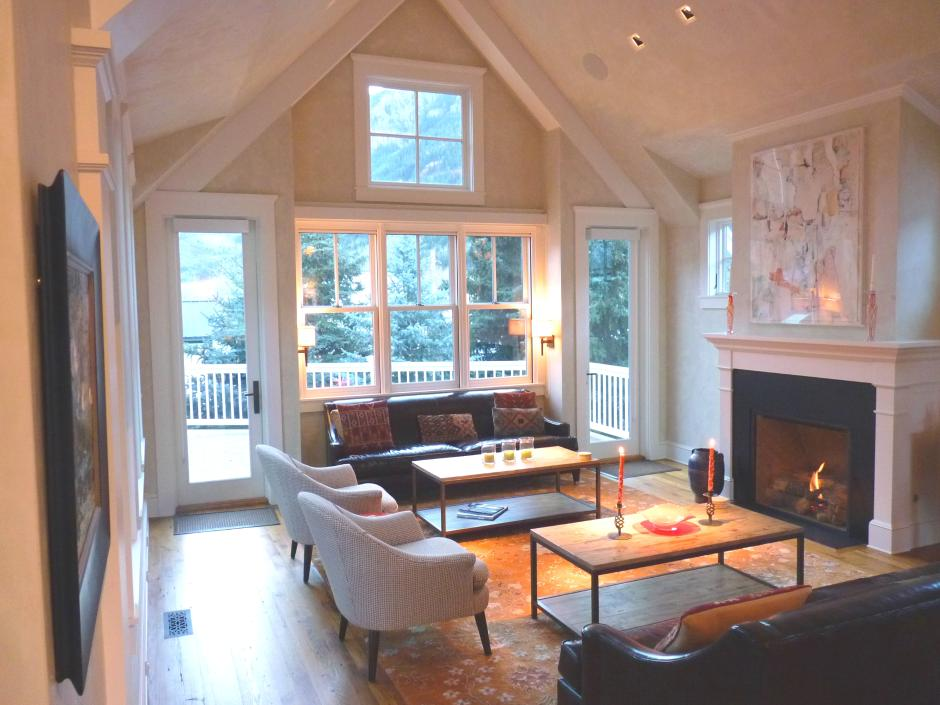 Light-Filled Gabled Living Room - Contemporary Victorian in Telluride, CO