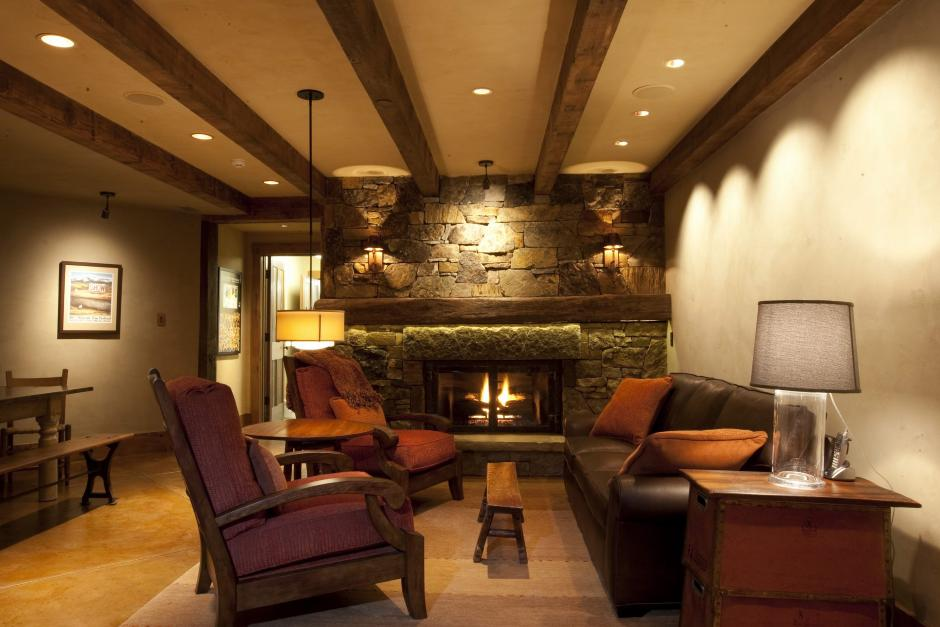 1GH Conversation Area - Stone and Timber Home in Colorado