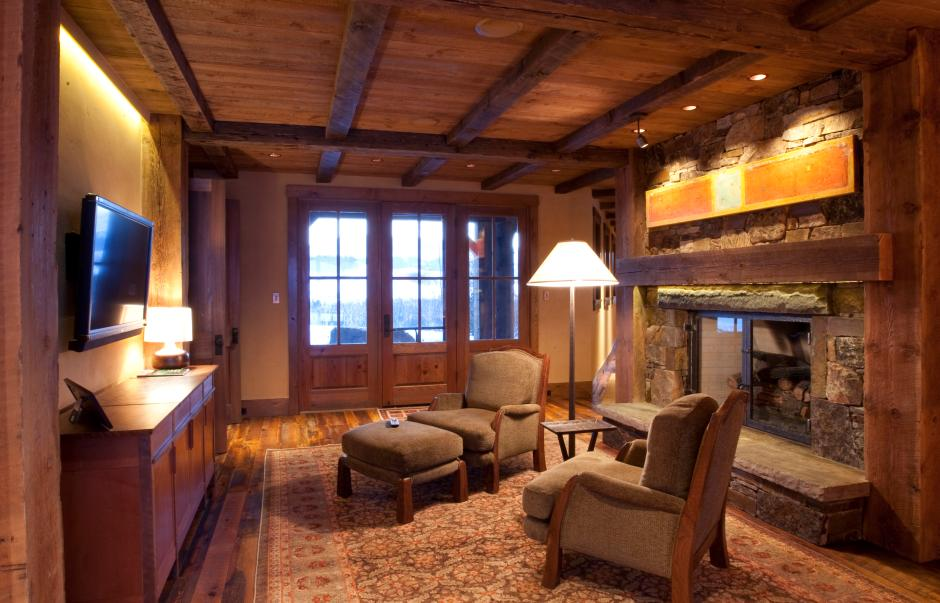 1GH TV Room - Stone and Timber Home in Colorado