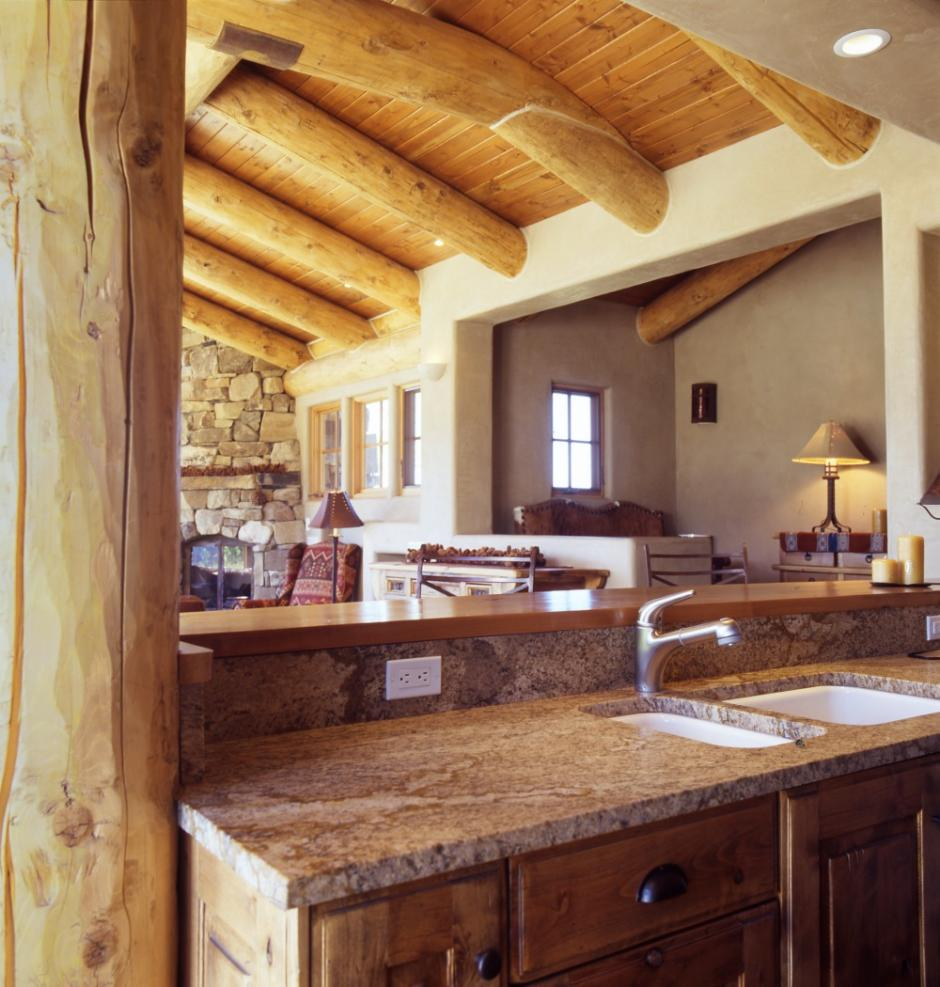 Stone Cabin 1SS Kitchen View - Guest Residence in Near Telluride, CO