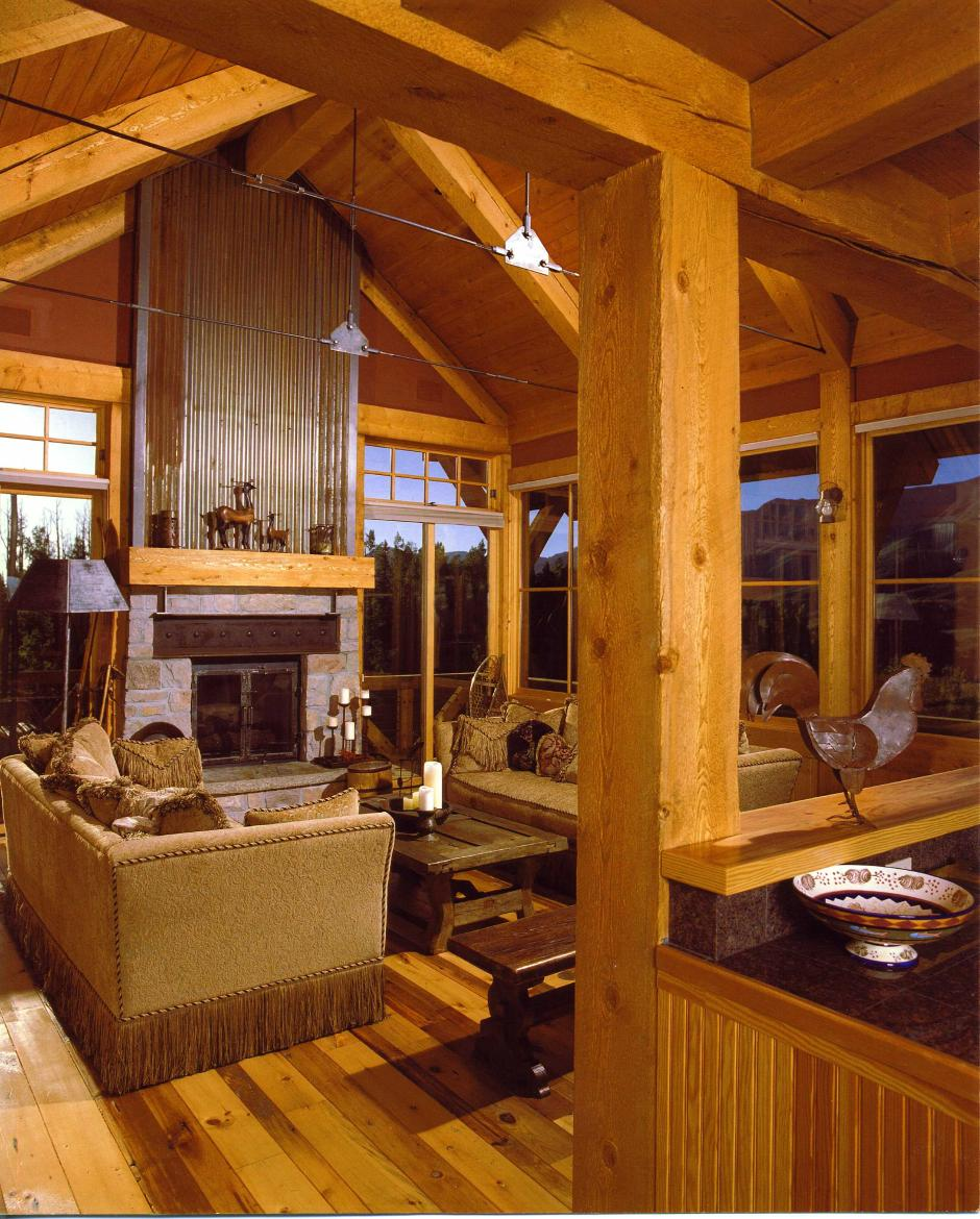 255 Mining Style Living Room - Mountain Residence in Colorado