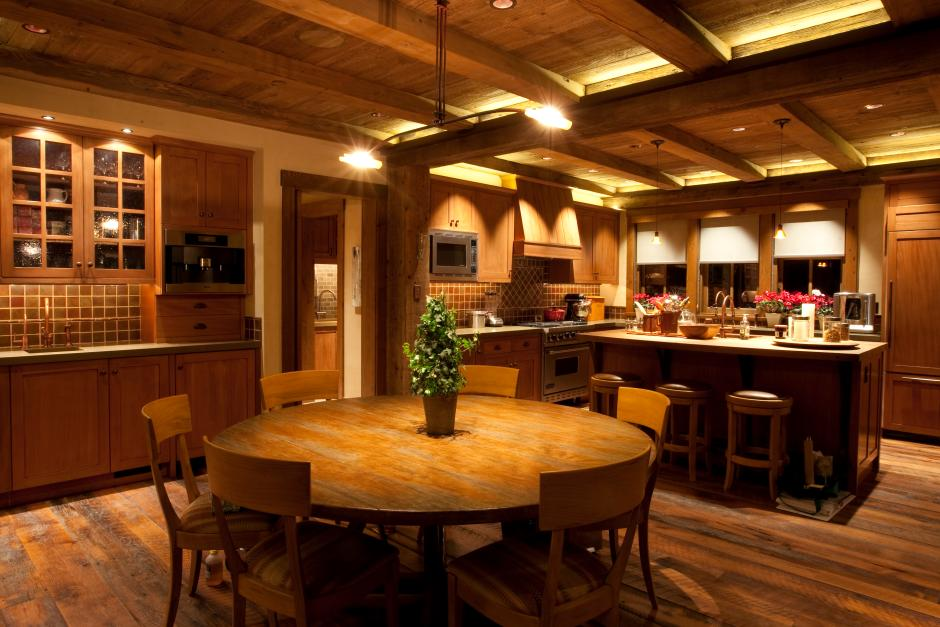 1GH Kitchen - Stone and Timber Home in Colorado
