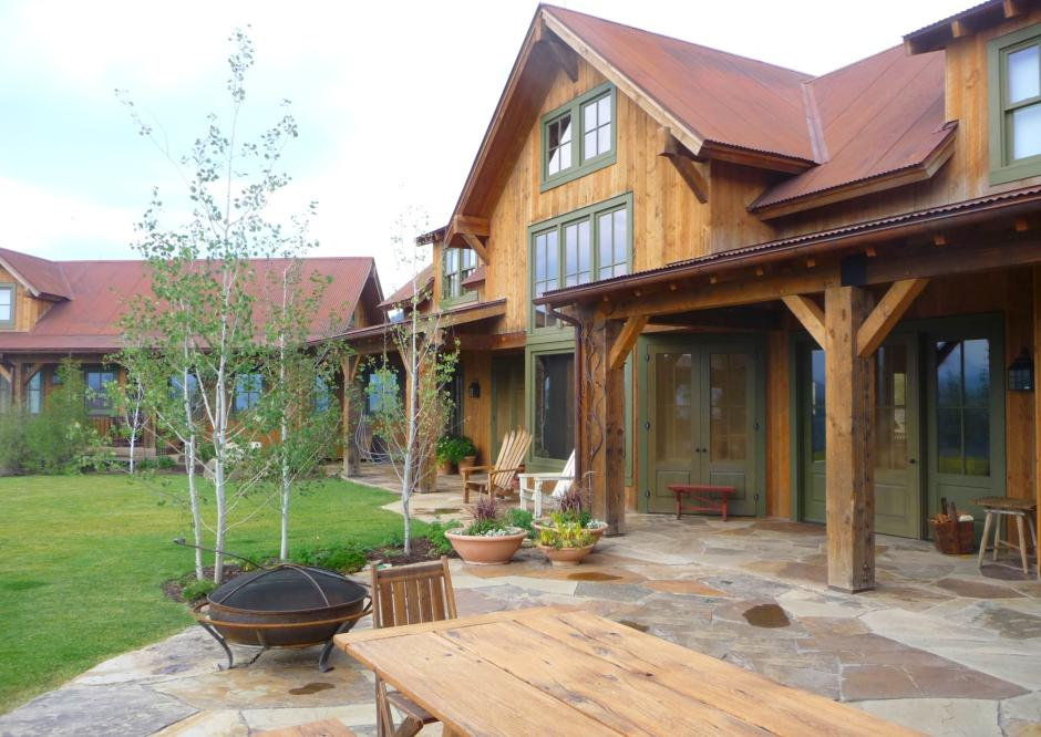 1GH Patio - Stone and Timber Home in Colorado