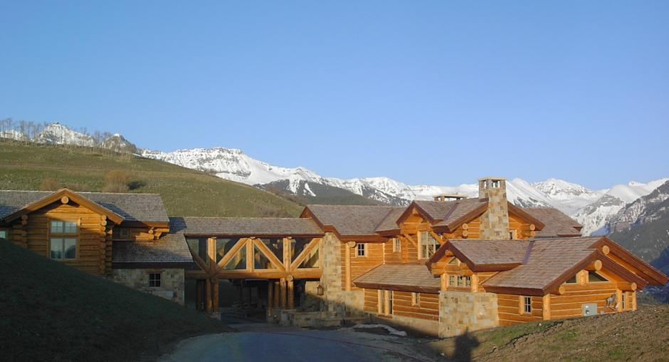 2SS Log and Stone Mountain Home Overview - Contemporary Mountain Log Home in Near Telluride, CO