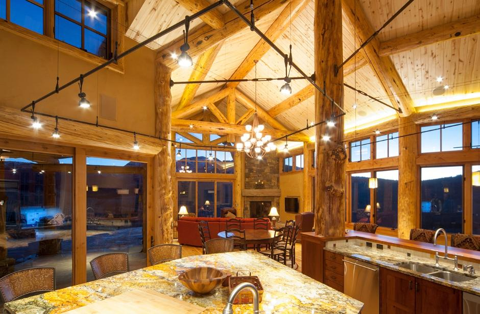 Kitchen and Living Room - Ranch House in Telluride, CO
