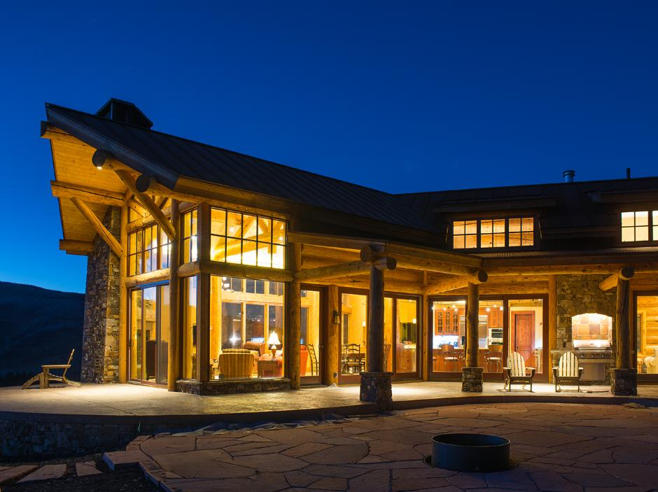Night Exterior View - Ranch House in Telluride, CO