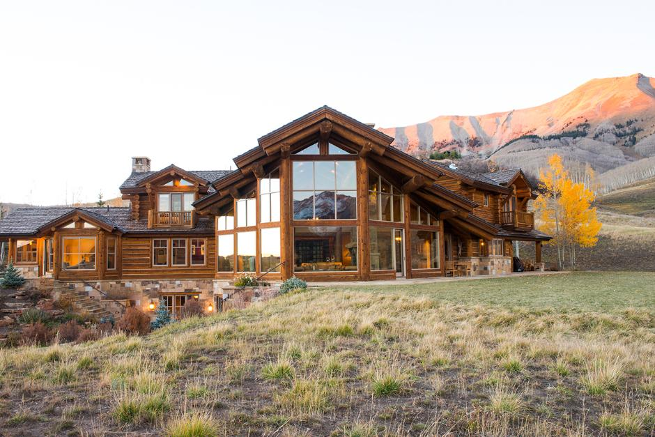 Exterior View - Contemporary Mountain Log Home in Near Telluride, CO