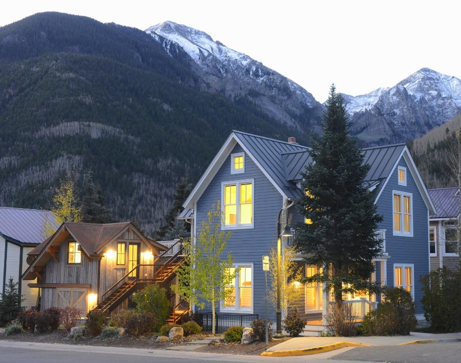 130 Historic District Contemporary Home Exterior - Contemporary Victorian in Telluride, CO